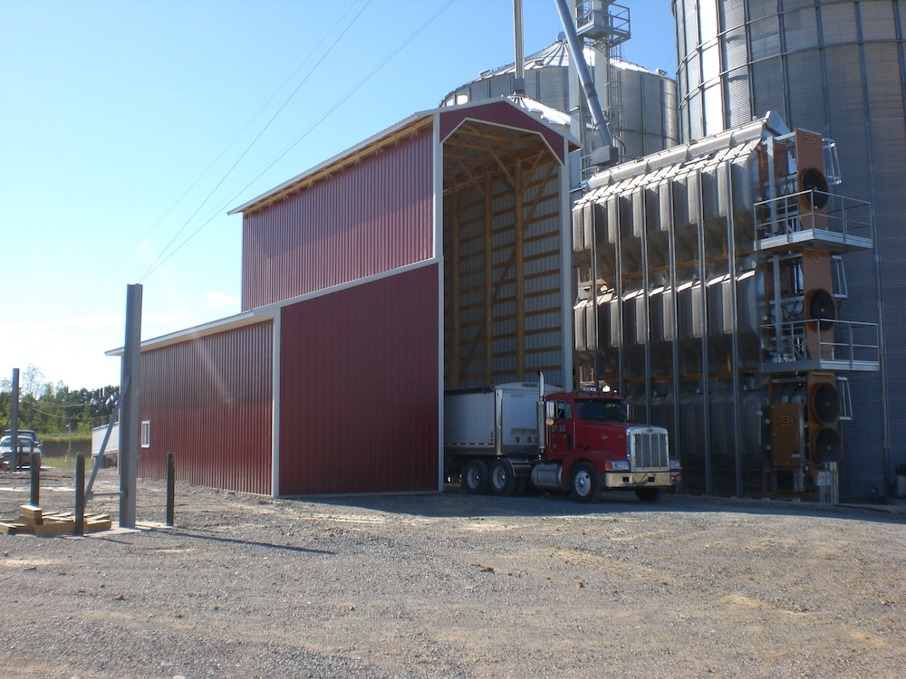 Farm Post-Frame Construction | Grain Truck Storage | Keystone Construction | Farm Storage