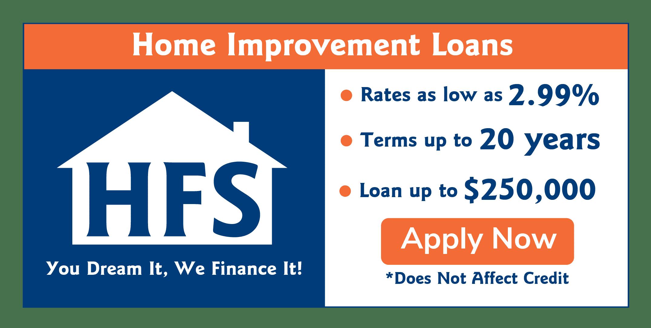 HFS | Metal Building Financing | Home Improvement Loans